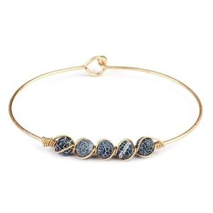 Jewelry - 6mm Natural Stone Wire Bracelet